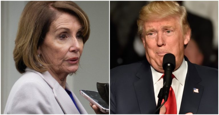 Trump Rips 'Very Sick Person' Pelosi, Says Something's Wrong 'Upstairs' or She Hates America