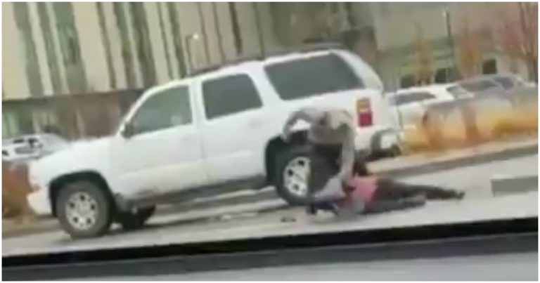Video: Masked Protester Blocks Road, Damages Man's Car, Winds Up Receiving Beat Down