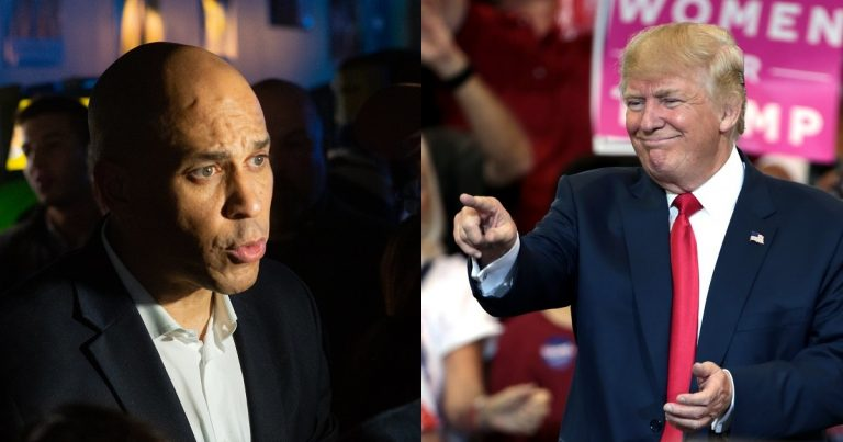 Trump Lands Parting Shot After Cory Booker Drops Out of Race