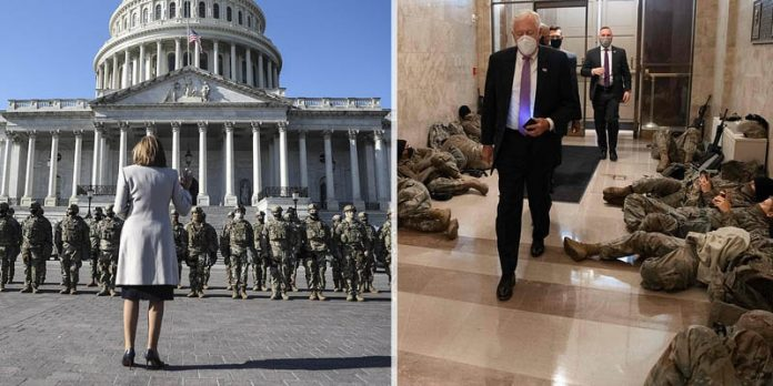 National Guard Troops Sleep On Capitol Floor Ahead of Inauguration