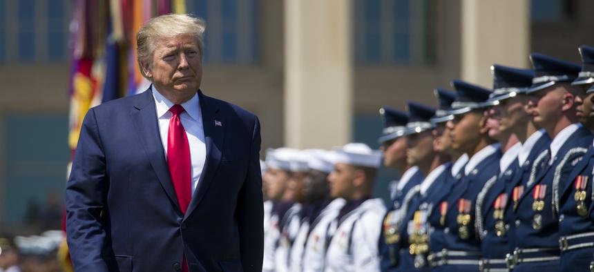 Pentagon Announcement in Favor of President Trump